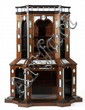 WEDGWOOD ET CHARLES TOFT Exceptionnel meuble deux-corps de forme architecturée en bois blond et teinté noir