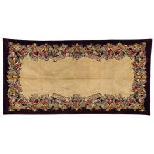 MONTA (Éditeur) A rectangular mechanical weaving multicolored velvet rug. Height. 114 1/8 in. - Width. 58 5/8 in.