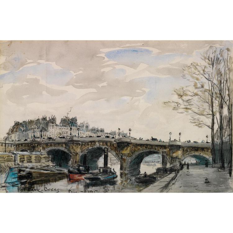 Frank Myers Boggs ( 1855 - 1926) Vue du Pont Neuf, 1905