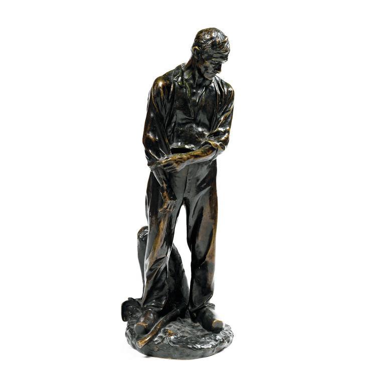 Aimé-Jules Dalou (1838-1902) Paysan relevant ses manches