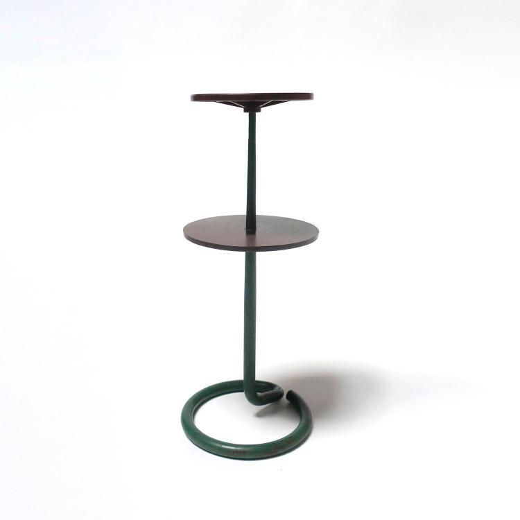 Stablet petite table pr sentoir moderniste structure en m t - Table basse deux plateaux ...