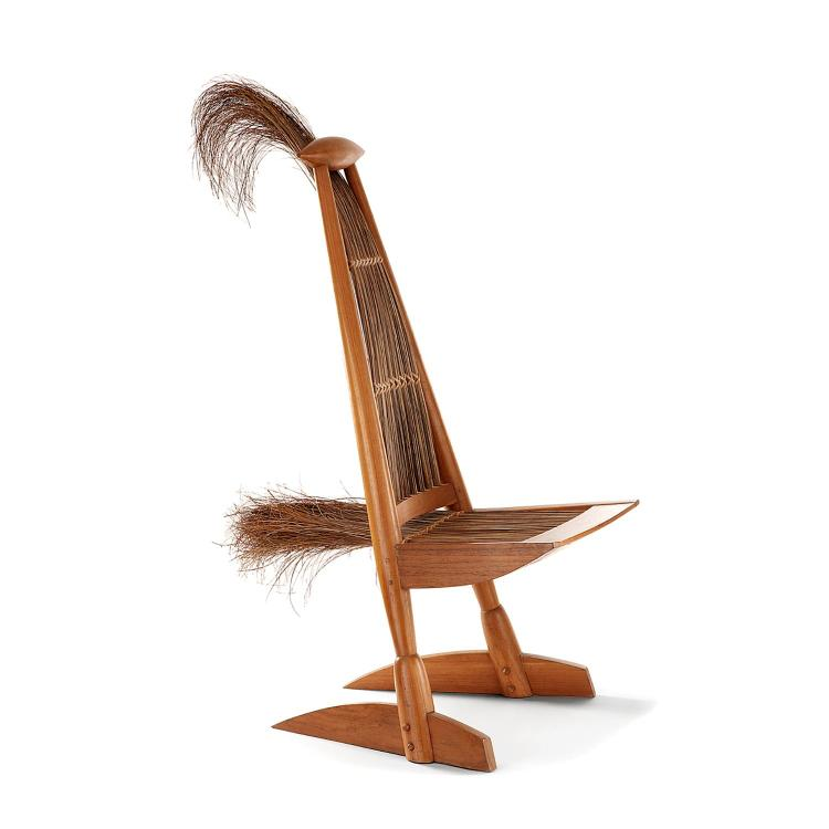 Travail am ricain sculpture chaise formant oiseau stylis s - Renover assise chaise ...