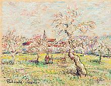 Paul Émile Pissarro (1884-1972) Le verger Pastel sur papier Signé en bas à gauche 23 x 31cm