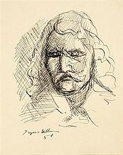 JACQUES VILLON (1875-1963) Portrait de Pierre Corneille, 1951 Encre sur papier Signée et datée