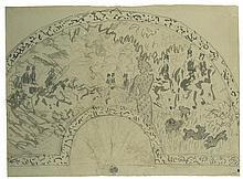 Pierre Bonnard (1867-1947) Scène Équestre Encre et stylo-bille sur papier 25,1 x 34cm
