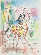 GEN PAUL (Eugène Paul dit) (1895-1975) Cavalier Pastel et feutre sur papier Signée en bas à gauche 39 x 29cm