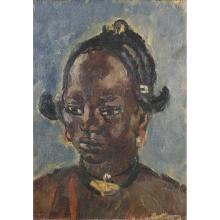MONIQUE CRAS (1910-2007)PORTRAIT DE FEMME MOSSI