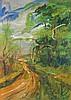 Luiggi Spazzapan (1889-1958) Parco del Valentino Watercolor and gouache on paper laid on canvas, Luigi Spazzapan, Click for value