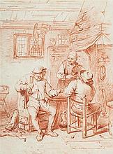 Johann Jakob BIEDERMANN (Winterhur 1763-Zurich 1830) À la taverne Sanguine 24,5 x 18cm Drawings