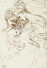 Attribué à Bernardino Martini ZENALE (Treviglio 1450-Milan 1526) Drawings Feuille d'étude recto-verso : maternité et étude d'enfant...