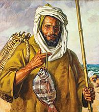 LOUIS-JOHN ENDRES (1896-1989) LA PÊCHE MERVEILLEUSE THE WONDERFUL FISHING  Huile 22ac993124e