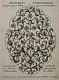 ANDRÉ DU CERCEAU et  autres artistes ORNEMENTS D'ORFÈVRERIE, dessins de miroirs (3 planches) et autres planches de bijoux par ou d'a...