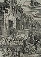 Albrecht DURER LE REPOS DE LA SAINTE FAMILLE PENDANT LA FUITE EN ÉGYPTE, planche de la série La Vie de la Vierge. (H. M.202 ; Barts...