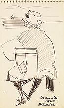CAMILLE HILAIRE (1916-2004) Deauville, 1965 Encre sur papier Signée, titrée et datée en bas à droite 18 x 11cm