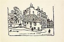 Elisée Maclet (1881-1962) La bergerie de Gabrielle d'Estrées, rue du Mont Cenis Encre sur papier Signée en bas à gauche Titrée, situ...