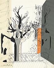 MAX PAPART (Né en 1911) Voyage d'hiver, 1957 Technique mixte Signée et datée