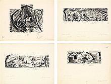 André Dignimont (1891-1965) Ensemble de 4 dessins 4 encres sur papier Signées en bas à droite 25 x 32cm