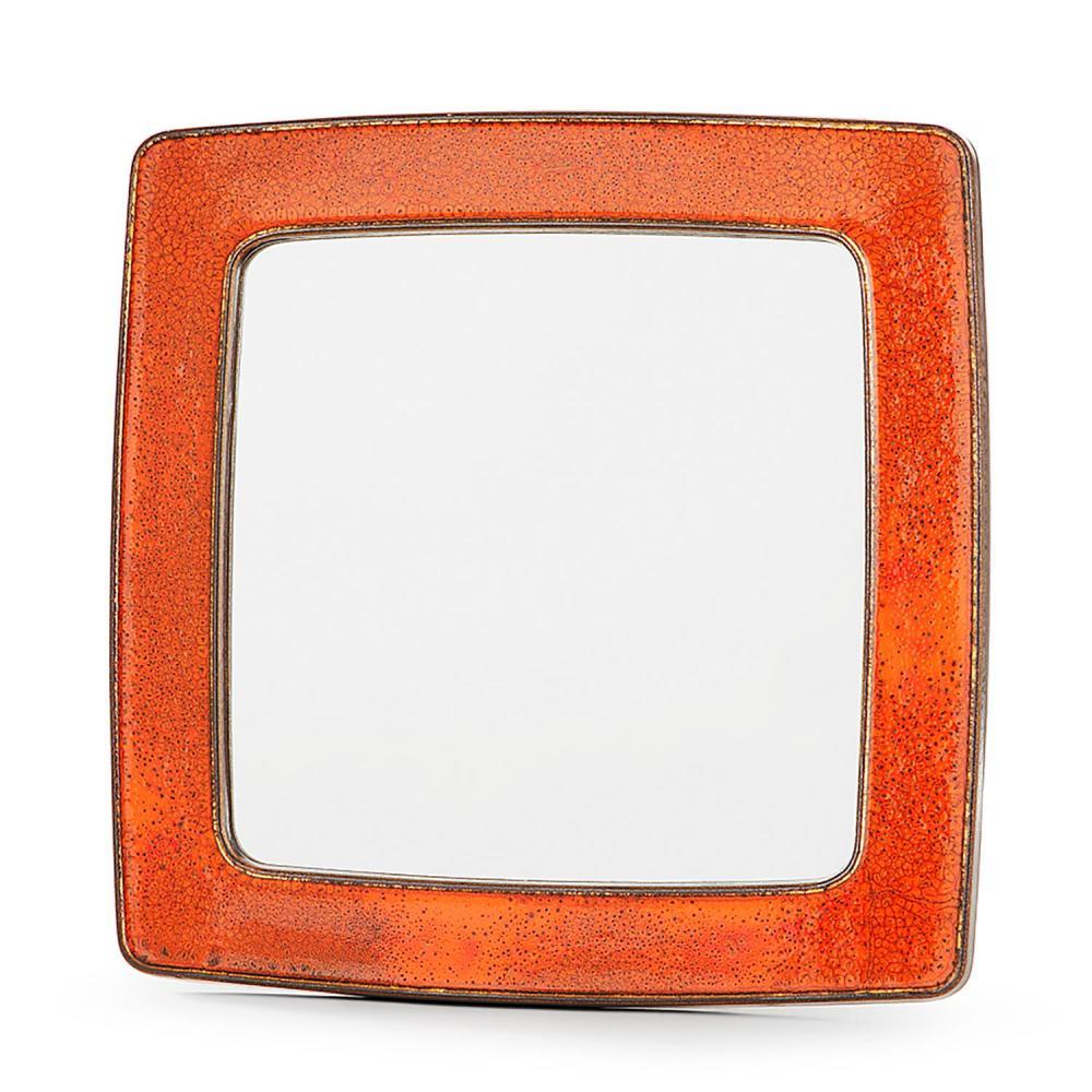 ann es 70 miroir encadrement en c ramique mail orange n