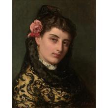 JOHN BAGNOLD BURGESS (Londres 1829 - 1897)Andalouse