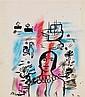 Mariano RODRIGUEZ (1912-1990) Personnage Aquarelle et pastel sur papier Signée en bas à gauche 41,5 X 35,5 cm
