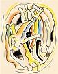 ƒ Fernand Léger (1881 - 1955) Etude pour les plongeurs, 1941 Gouache sur papier Signée du monogramme, datée