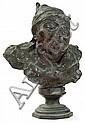 ƒ ACHILLE D'ORSI (1845-1929) Buste d'homme Bronze à patine brune. Signé sur la chemise. Haut. 18cm - Larg.13,5cm - Prof. 7,5cm, Achille D'Orsi, Click for value