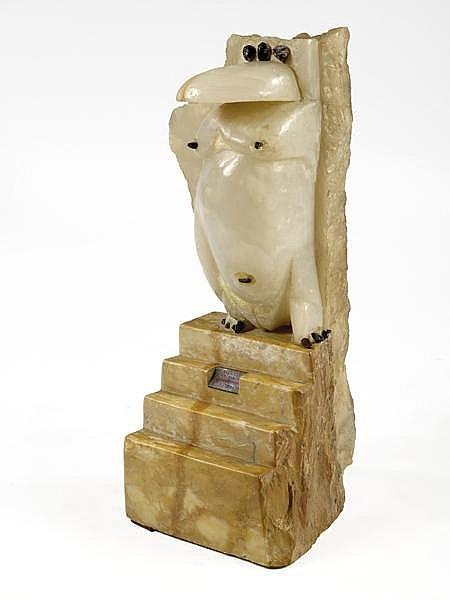 Pierre SZEKELY (1923-2001) Sculpture en onyx obsidien