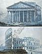 Franz KAISERMANN (Yverdon 1765 - Rome 1833) Vue du Panthéon Vue du Colisée Aquarelle, plume et encre noire 61 x 98 cm 60,6..., Franz Kaisermann, Click for value