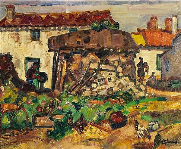 André CLAUDOT (XXe) La faute sur mer Huile sur toile Signée en bas à droite 50 x 61 cm