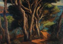 André Hebuterne (1894-1979) Les arbres Huile sur toile Signée en bas à gauche 33 x 45,5 cm