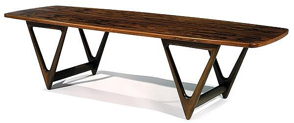 Kurt stervig 1912 1986 grande table basse pi tement form for Table basse grande dimension
