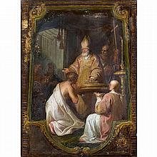 Attribué à Michel CORNEILLE l''ancien (Paris 1642-1708)Le Baptême