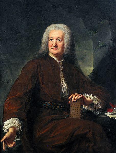 Marianne LOIR (Active à Paris au XVIIIe siècle) Portrait d'homme en robe de bure