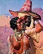 Adam Styka (1890-1959) Les amoureux Huile sur toile, signée en bas à gauche. 81 x 65 cm, Adam Styka, Click for value