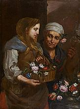 Bernhard KEILHAU dit MONSU BERNARDO (Helsingborg 1624 - Rome 1687) Vertumne et Pomone Toile 93,5 x 69 cm Restaurations anciennes