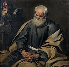 Attribué à Gerard SEGHERS (1591 – 1651) Saint Pierre Toile 114 x 118 cm Restaurations