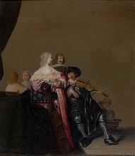Christoffel Jacobsz van der LAMEN (Bruxelles ? 1606 – Anvers 1651) Le Violoniste Panneau de chêne, deux planches, renforcé 47 x 41 c...