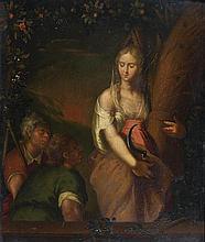 Ecole HOLLANDAISE vers 1700, entourage d'Adriaen Van der WERFF Allégorie de l'été Panneau de chêne, une planche non parquetée 32 x 2...