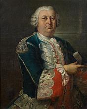 Attribué à Louis Gabriel BLANCHET (1705-1772) Portrait d'homme portant l'uniforme des gardes du corps du roi Toile 81 x 65,5 cm