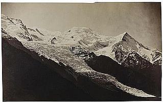 Louis-Auguste Bisson (1814-1876) et Auguste-Rosalie Bisson (1826-1900) Le Mont-Blanc et glacier des Bossons, 1863 Épreuve albuminée...