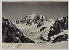 Louis-Auguste Bisson (1814-1876) et Auguste-Rosalie Bisson (1826-1900) Mont-Blanc, 1860 Épreuve albuminée, négatif verre au collodio...