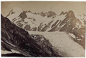 Louis-Auguste Bisson (1814-1876) et Auguste-Rosalie Bisson (1826-1900) Glacier du Rhône, 1855 Épreuve albuminée, négatif verre au co...