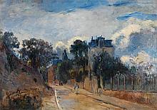ALBERT LEBOURG (1849-1928) Rue à Meudon Huile sur toile  Signée en bas à gauche  Oil on canvas Signed lower left 46 x 64,5cm - 18 1...