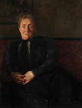 Jacques Émile Blanche (1861-1942) Tante Sara Huile sur toile Signée et titrée en bas à droite  Oil on canvas Signed and titled lower...