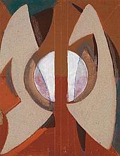 ALFRED RETH (1884-1966) Composition géométrique Technique mixte sur panneau Porte un cachet au dos  Mixed media on panel Stamp on th...