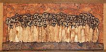 Philippe Dereux (1918) Les vieillards, 1989 Épluchures et fruits séchés sur panneau Signée en bas à gauche et numérotée