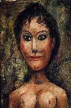 ÉDOUARD GOERG (1893-1969) La brune Huile sur toile  Signée en bas à droite et contresignée au dos  Oil on canvas  Signed lower right...