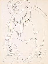 RAOUL DUFY (1877-1953) Clown Encre sur papier Porte le cachet de l'atelier en bas à droite  Ink on paper Stamp of the studio lower r...
