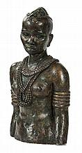 "Anna Quinquaud (1890-1984)  sculpture in plastor with bronze patina inscribed ""A"
