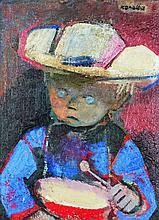 ƒRaymond Kanelba (1897-1960)  Oil on cardboard Signed upper right  - 16 1/8 x 12 in